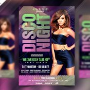 Disco Party Flyer PSD Template