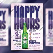 Happy Hour Offers Flyer Design PSD
