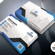 Minimal Corporate Business Card PSD