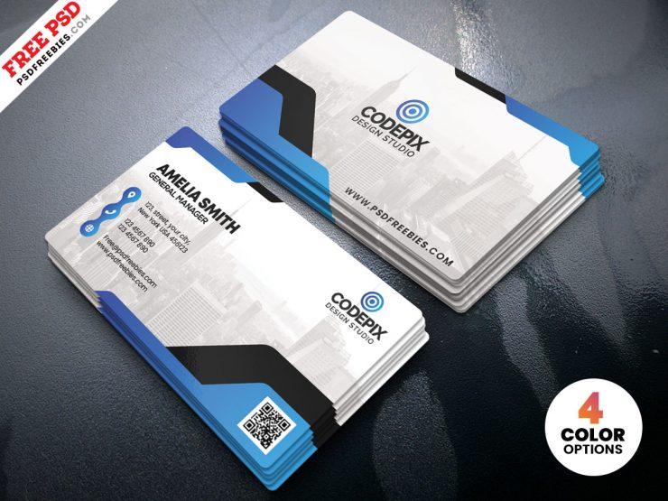 Minimal Corporate Business Card PSD