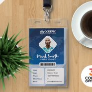 Print Ready Employee Identity Card PSD