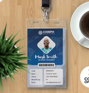 Print Ready Employee Identity Card PSD