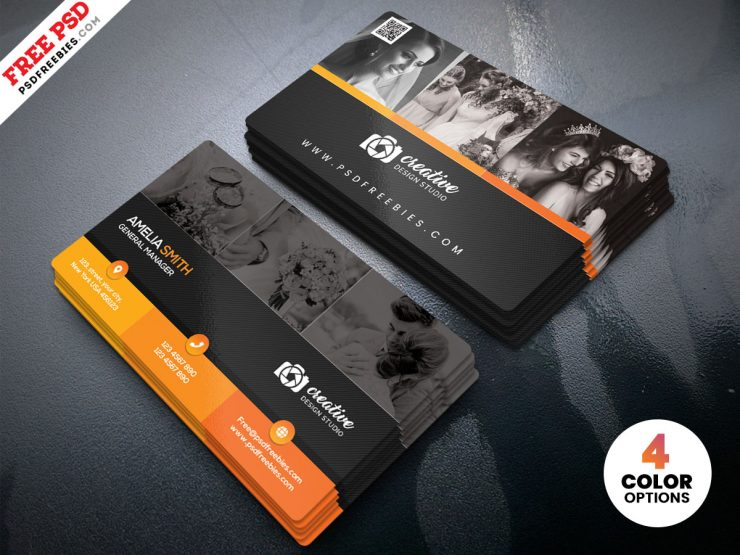 Professional Photographer Business Card Design PSD