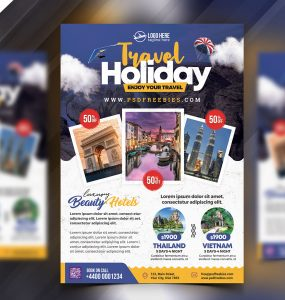 Tour Travel Flyer PSD Template