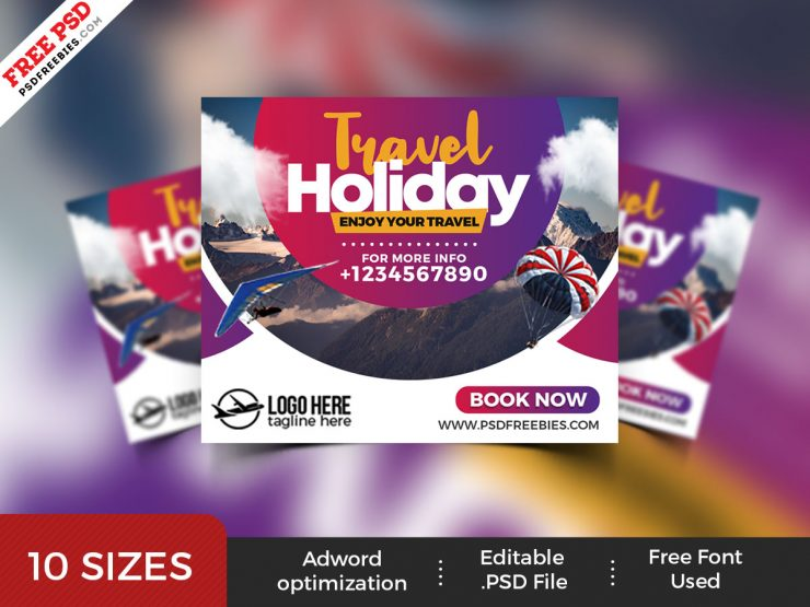 Travel Agency Ad Banner PSD