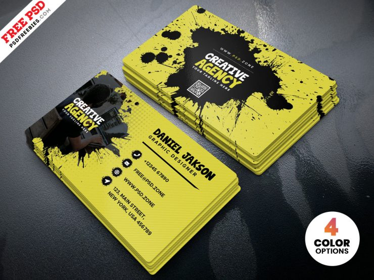 Agency Business Card Design PSD