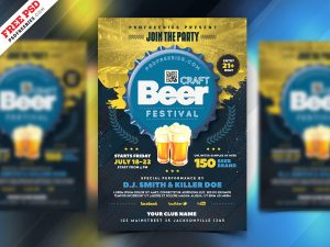 Beer Festival Celebration Flyer PSD