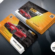 Car Dealer Business Card PSD