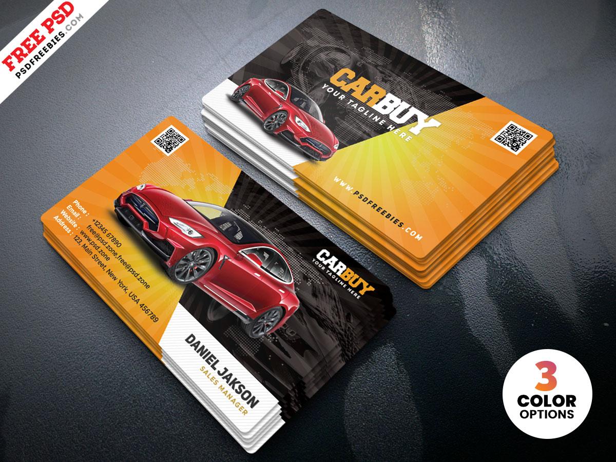 car dealer business card psd