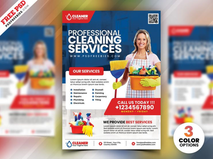Cleaning Service Flyer PSD