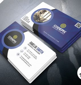 Customizable Business Cards Design PSD