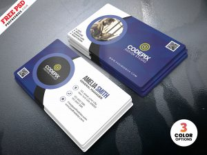 Customizable Business Cards Design PSD