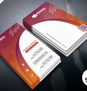 Designer Vertical Business Card PSD