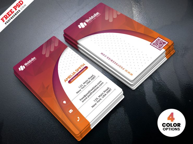 Designer Vertical Business Card PSD