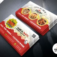 Food Restaurant Business Card PSD Template