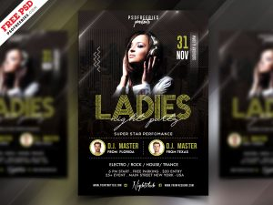 Girls Ladies Night Party Flyer PSD