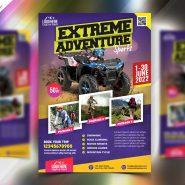 Outdoor Adventure Tour Flyer PSD