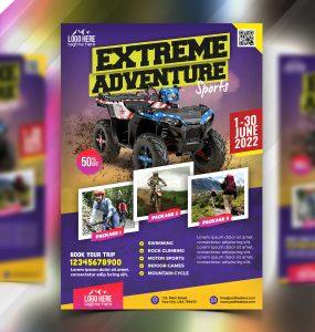 Outdoor Adventure Tour Flyer PSD