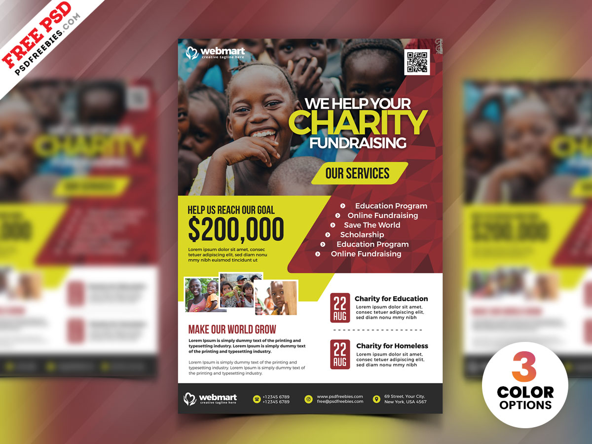 Charity Fundraisers Flyer PSD Template – PSDFreebies.com With Regard To Ngo Brochure Templates