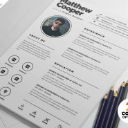 Clean Resume CV PSD Template