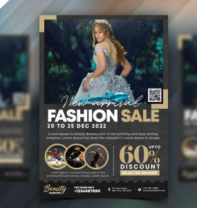 Fashion Sale Promotional Flyer PSD