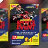 Football Event Flyer Template PSD