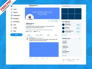 New Twitter Page Mockup 2019
