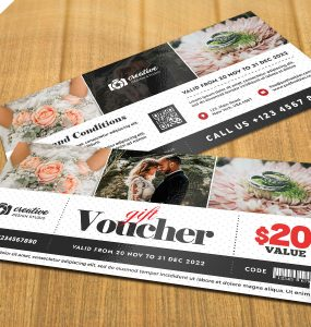 Photography Gift Voucher Template PSD