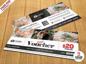 Photography Gift Voucher Template PSD
