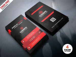 Premium Corporate Business Card PSD