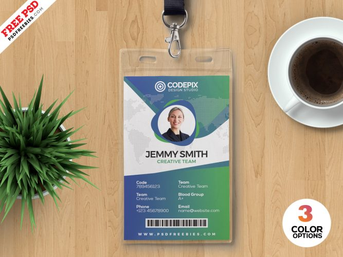 Print Ready Identity Card Design PSD