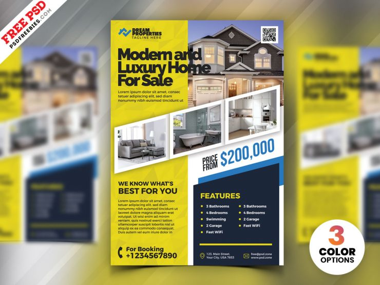 Real Estate Marketing Flyer PSD