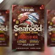 Seafood Restaurant Flyer PSD