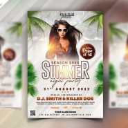 Summer Party Flyer Template PSD
