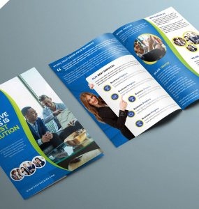 Corporate BiFold Brochure PSD Template
