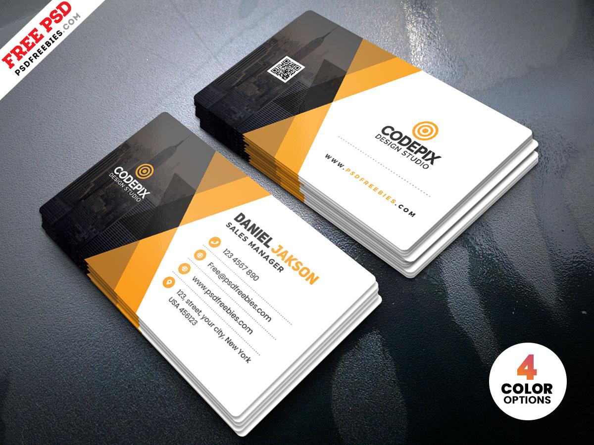 Corporate Business Card Template Psd Psdfreebies Com