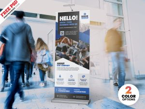 Corporate Roll-Up Banner PSD
