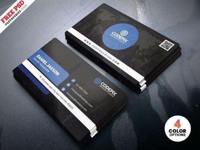 Minimal Business Card Design PSD