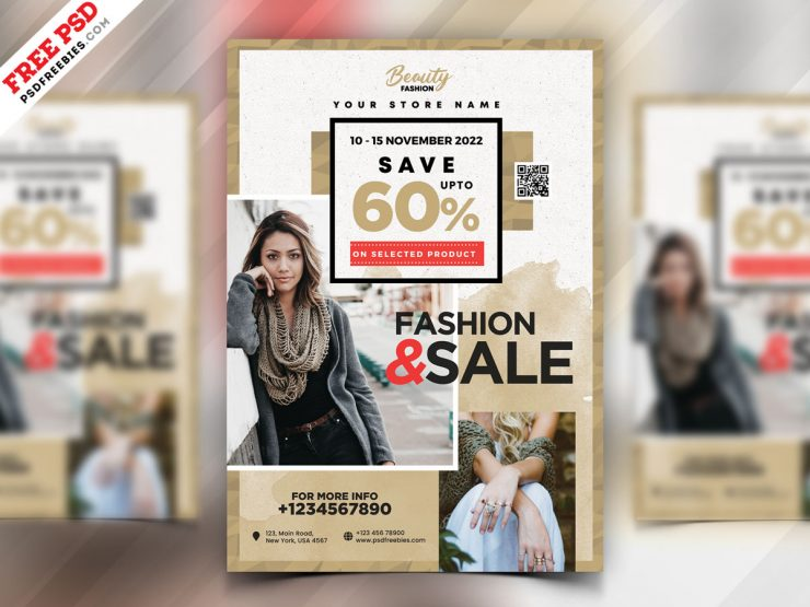 Modern Sale Flyer Template PSD
