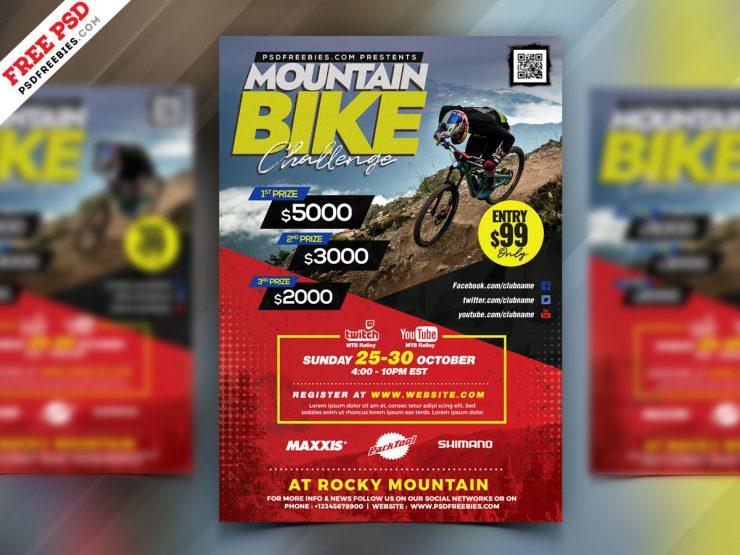 Mountain Bike Rally Event Flyer PSD
