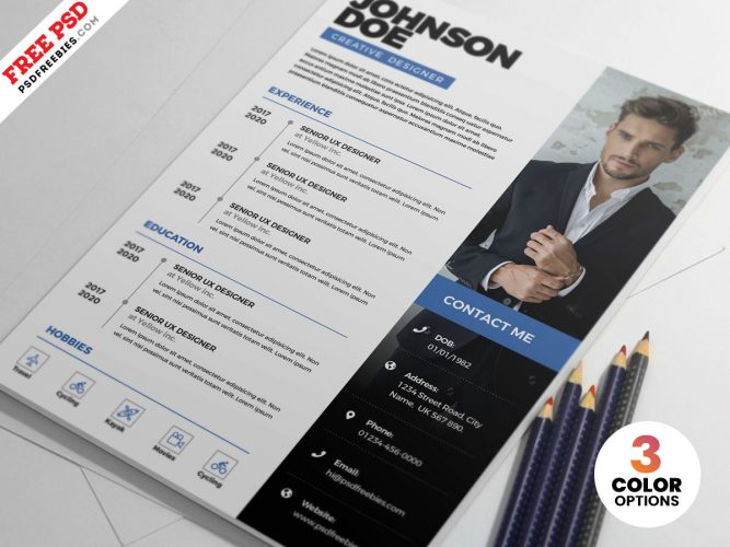 PSD Clean Resume CV Template