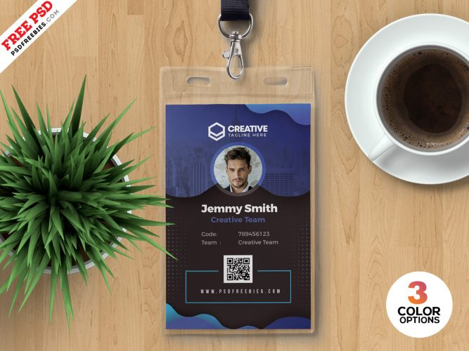 Beautiful Modern Office Identity Card PSD