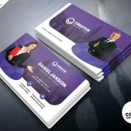 Horizontal Corporate Business Card PSD Template
