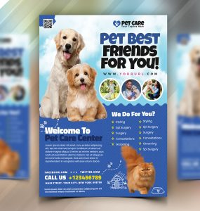 Pet Shop Flyer Template PSD