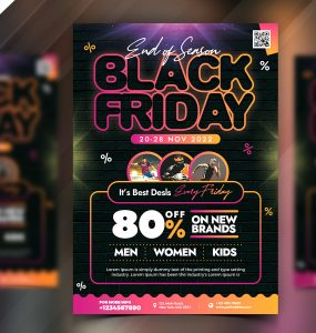 Premium Black Friday Sale Flyer PSD