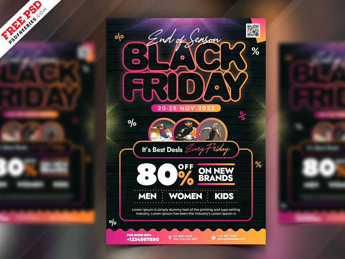 Premium Black Friday Sale Flyer Psd Psdfreebies Com