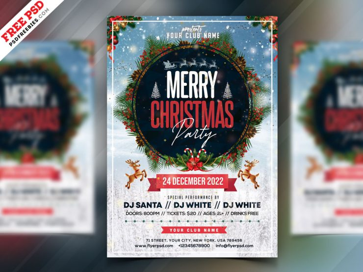 Christmas Party 2020 Flyer PSD