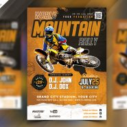 Racing Event Flyer PSD Template