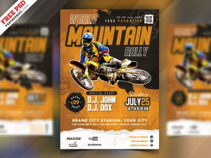 Mountain Rally Event Flyer PSD