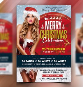 Premium Christmas Party Flyer PSD